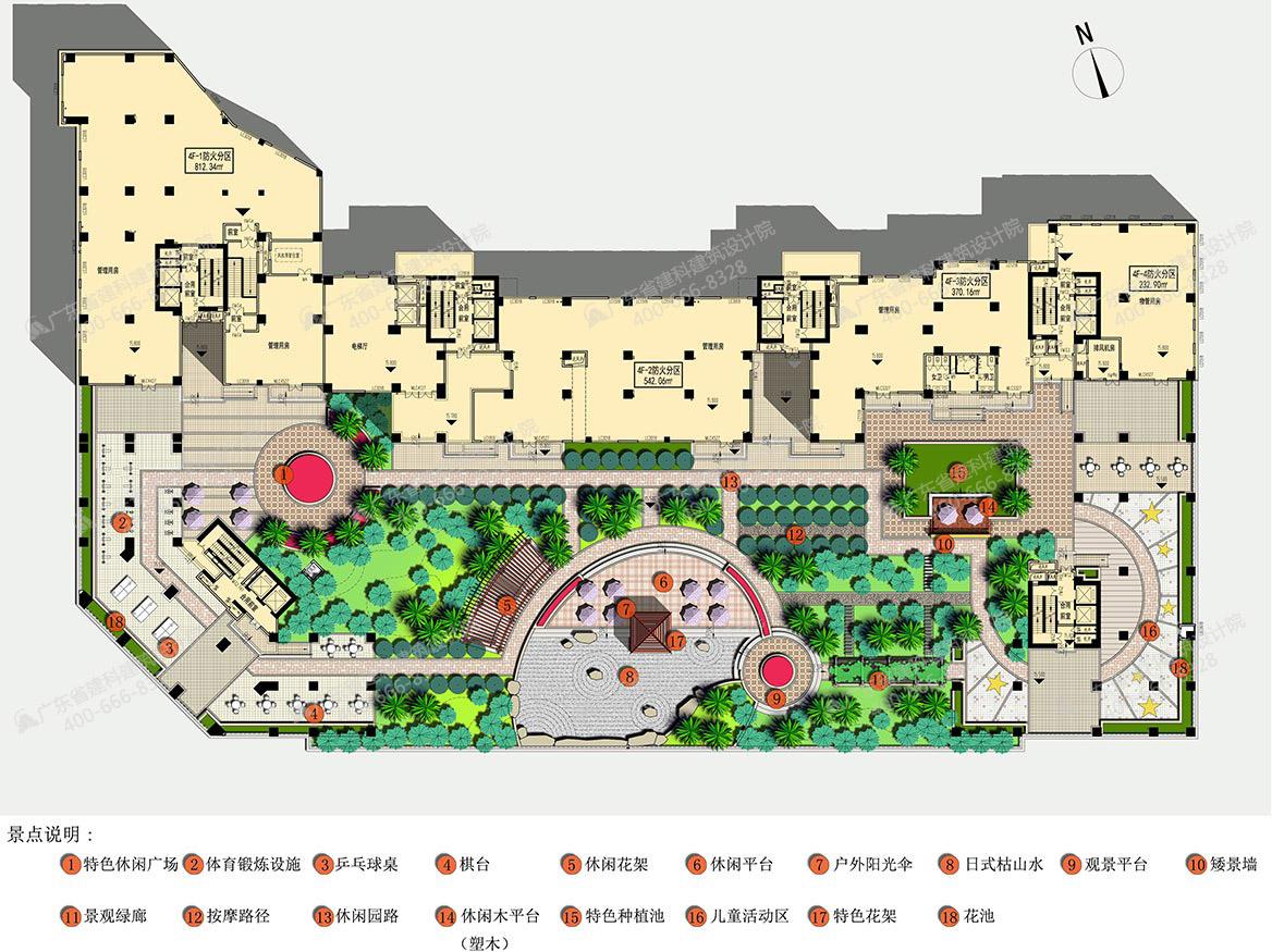 连州现代国际广场景观设计平面图