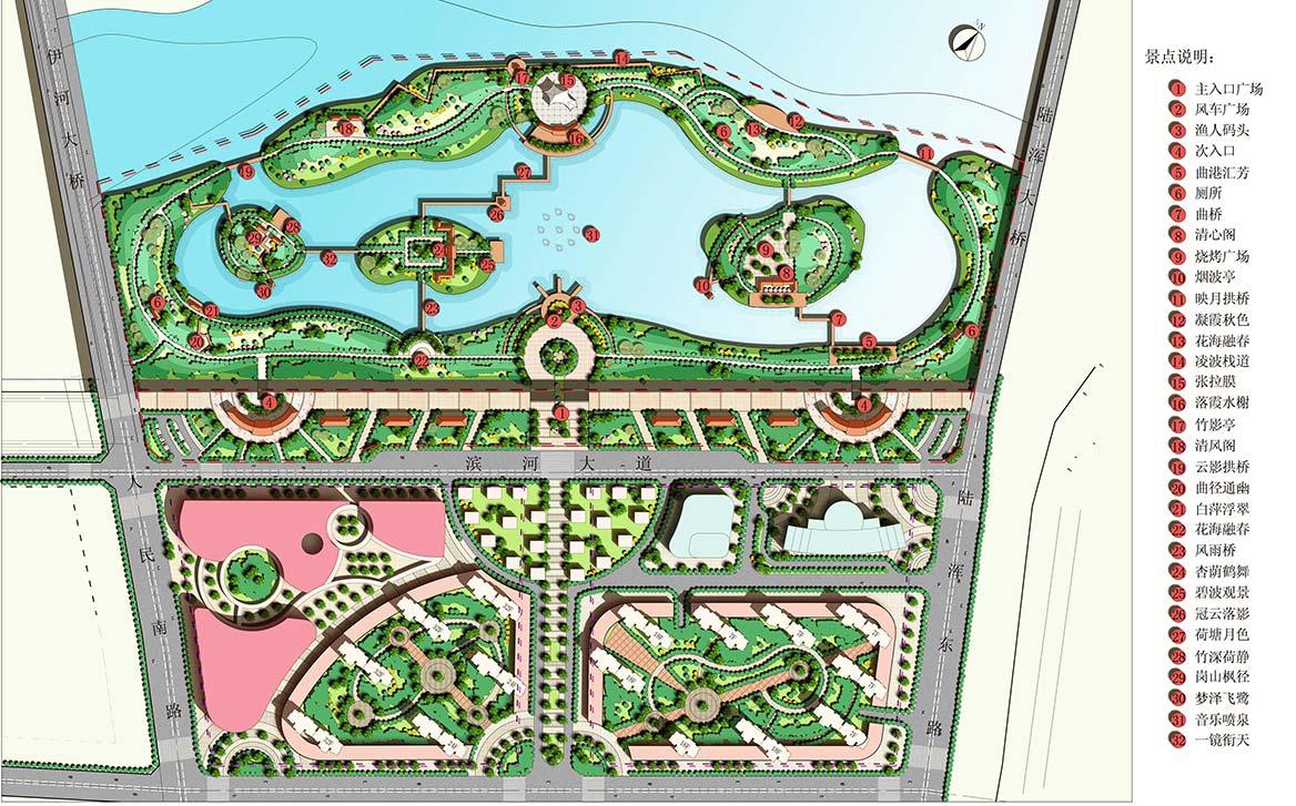 陆浑湖国家湿地公园景观设计平面图