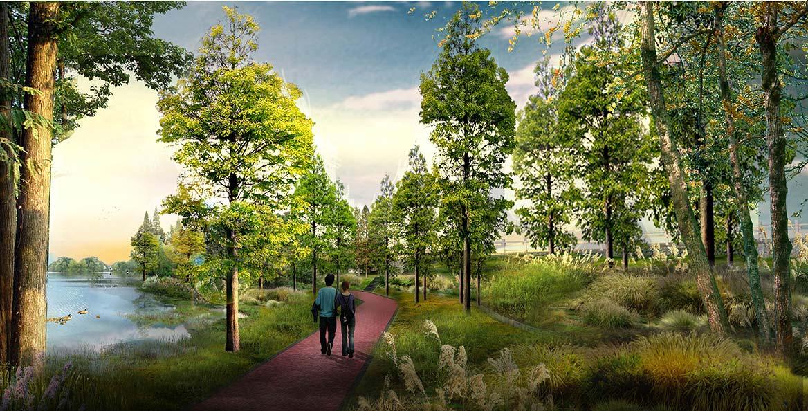 陆浑湖国家湿地公园景观设计图2