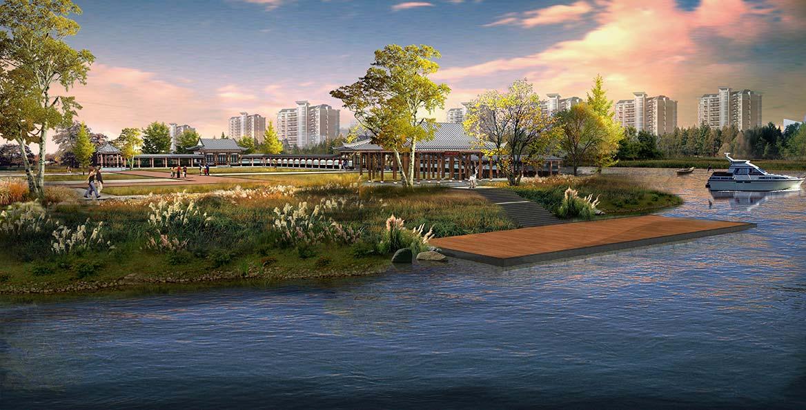陆浑湖国家湿地公园景观设计图3