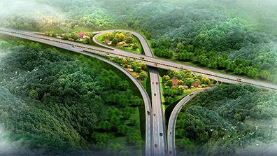 高速公路景观设计要充分结合实际条件
