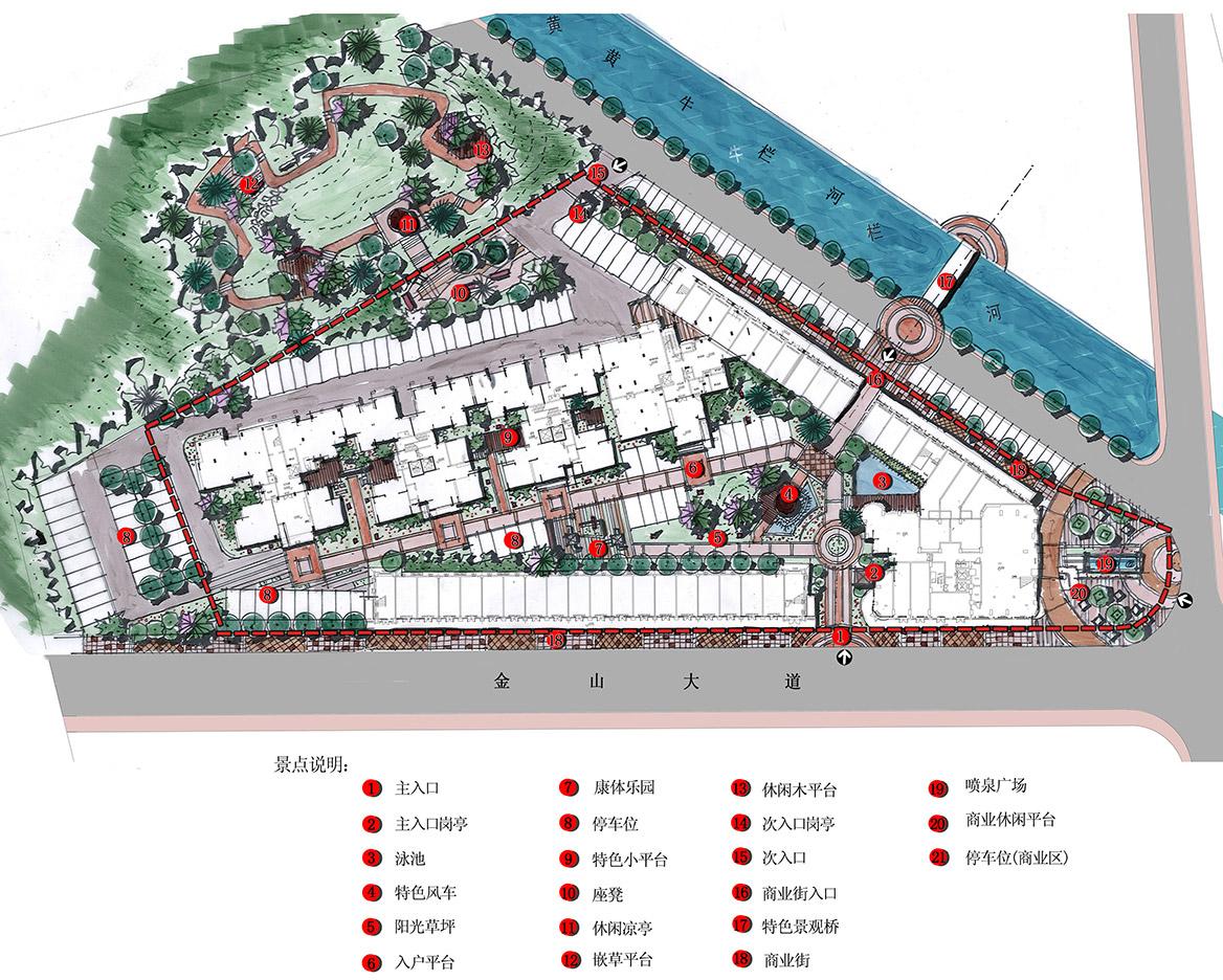 恩平市温泉里景观规划设计方案总平面图