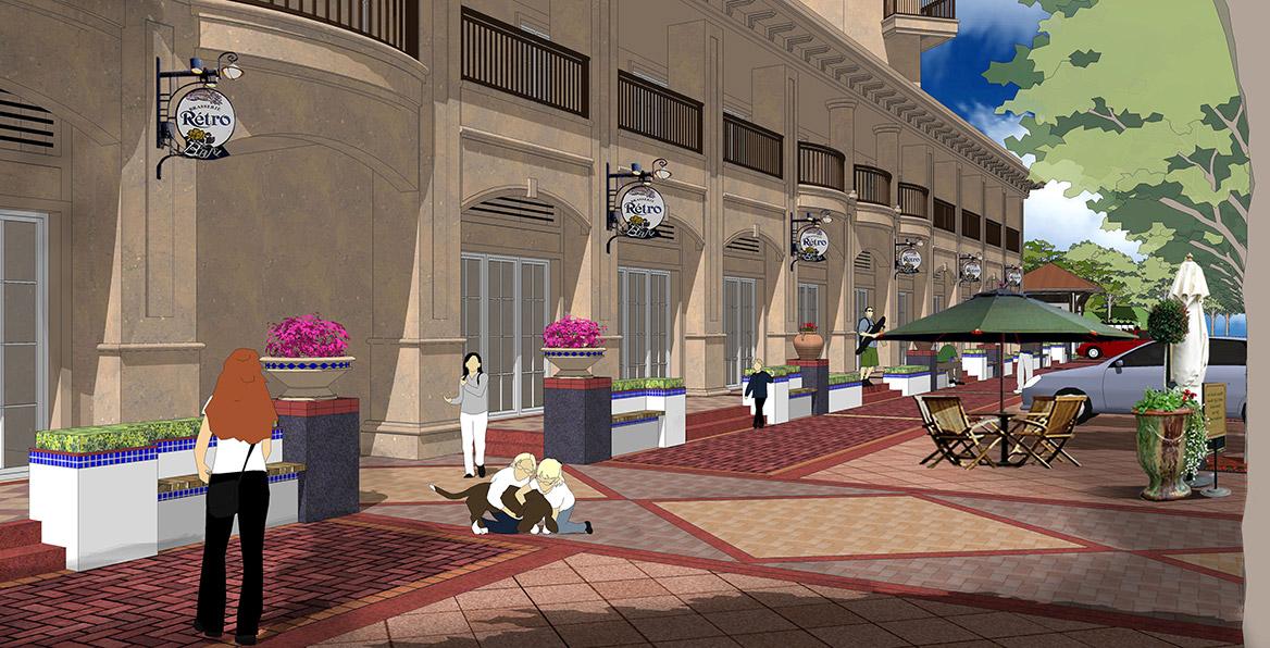 恩平市温泉里景观规划设计方案透视图三