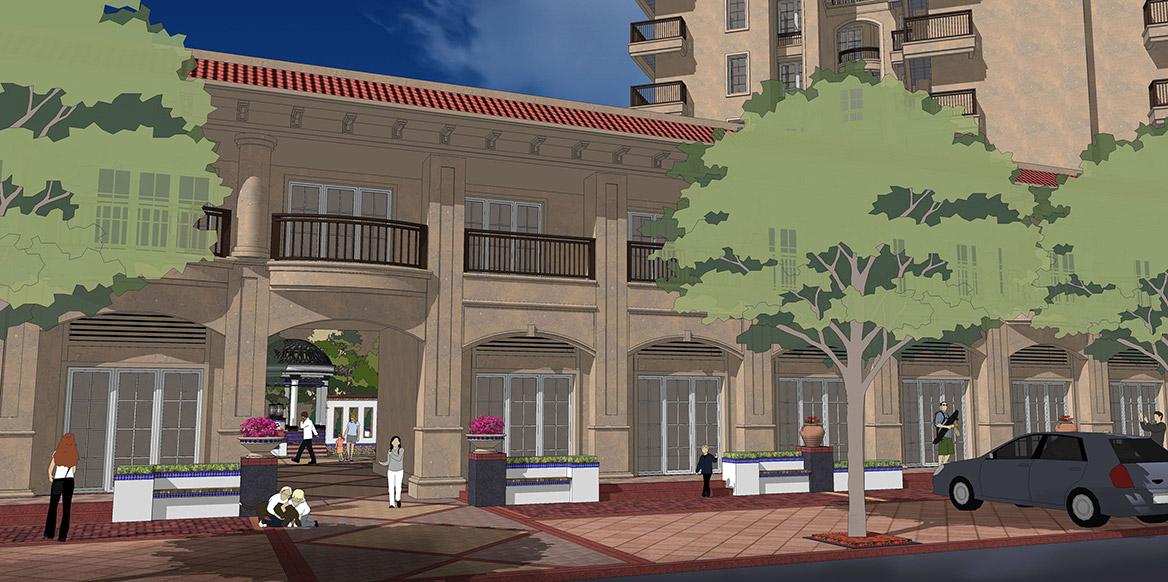 恩平市温泉里景观规划设计方案透视图四