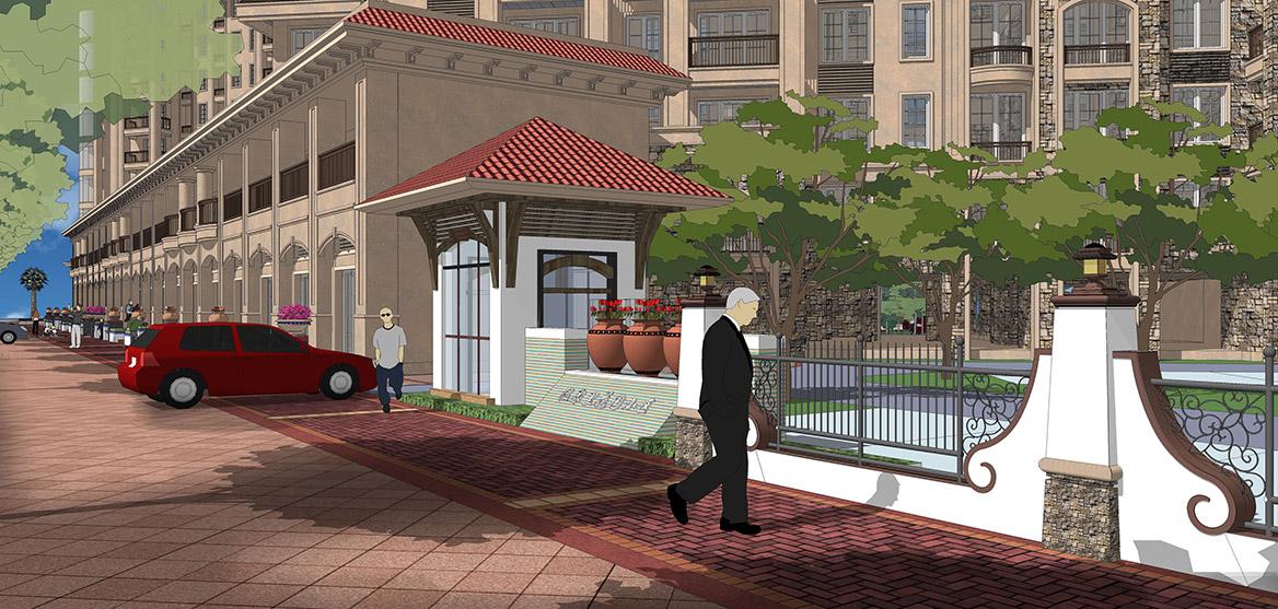 恩平市温泉里景观规划设计方案透视图五
