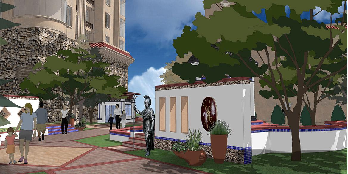 恩平市温泉里景观规划设计方案透视图七