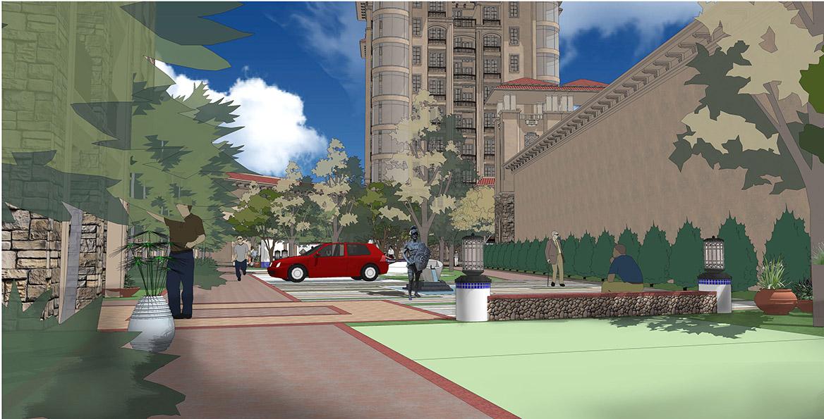 恩平市温泉里景观规划设计方案透视图八