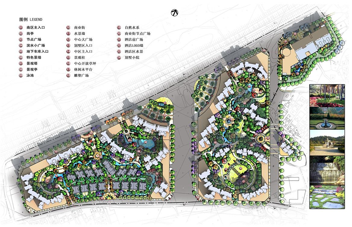 清远市富景天下景观方案设计总图