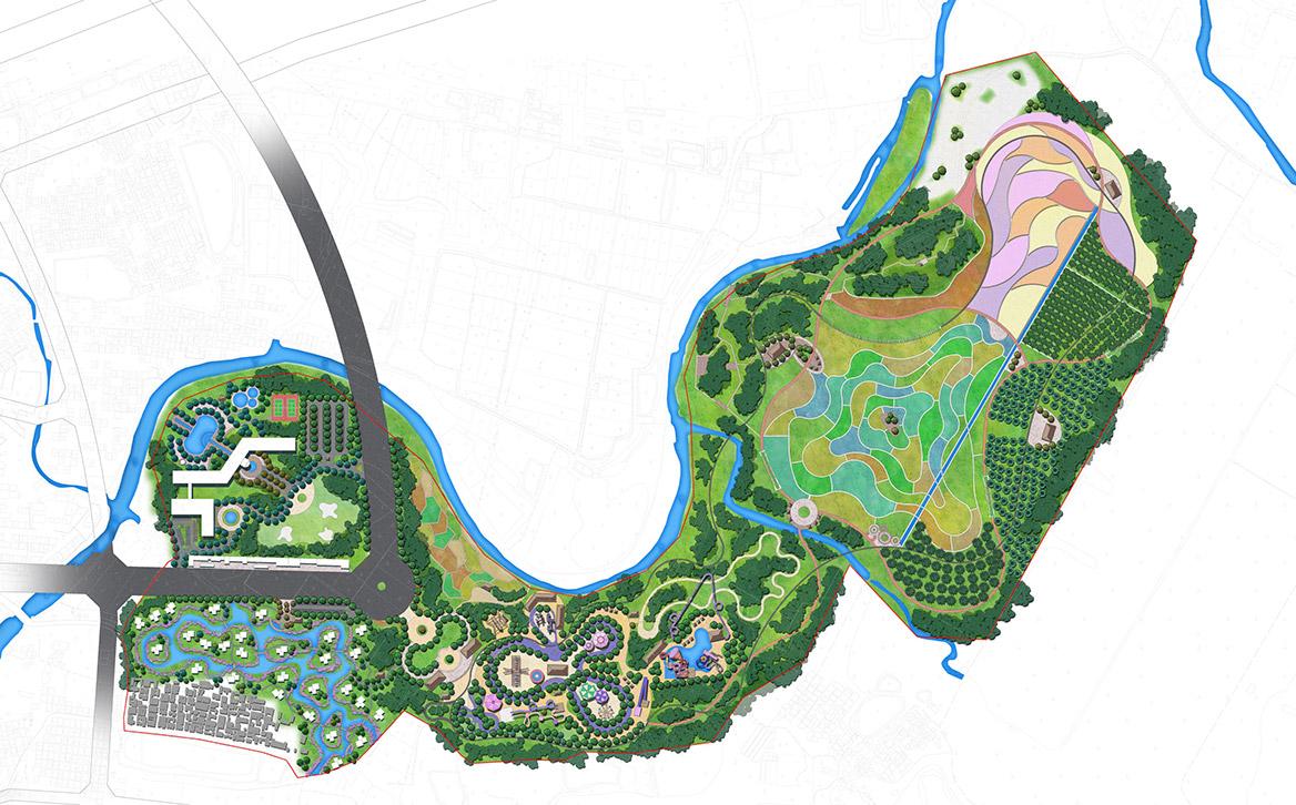 碧森旅游度假中心概念规划总平面图