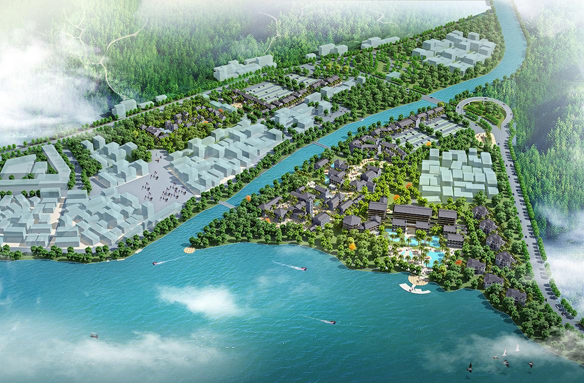 德庆县悦城龙母祖庙风景旅游区总体规划鸟瞰图