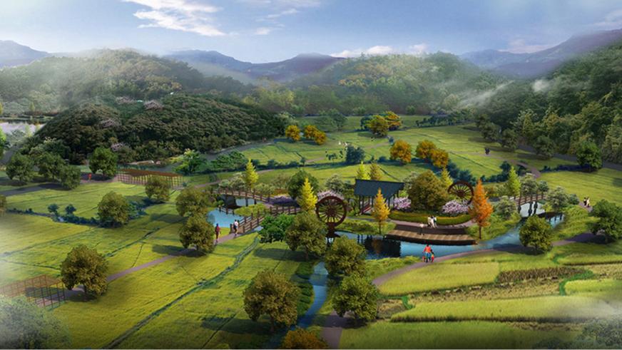 河源市天颐园观光休闲农业度假村生态农业区效果图