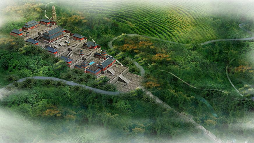 大愿寺鸟瞰图