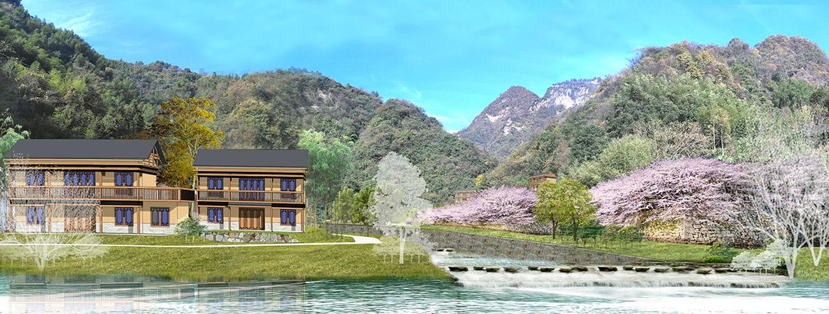 张家界悬崖花开养生谷总体规划设计效果图2