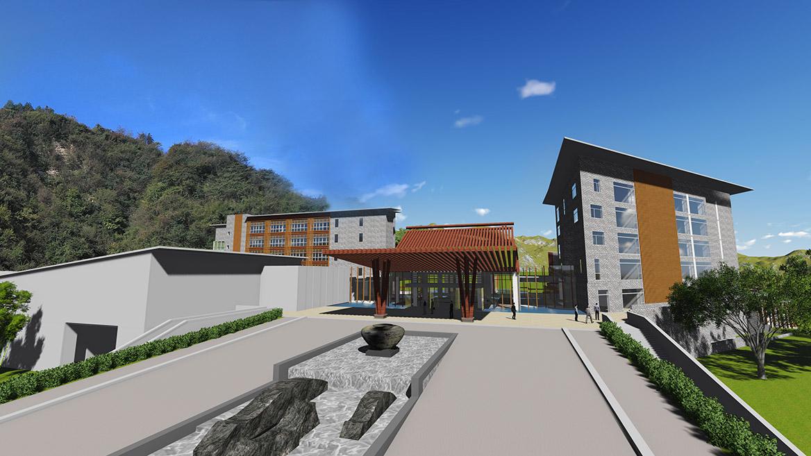 张家界悬崖花开养生谷总体规划设计效果图3