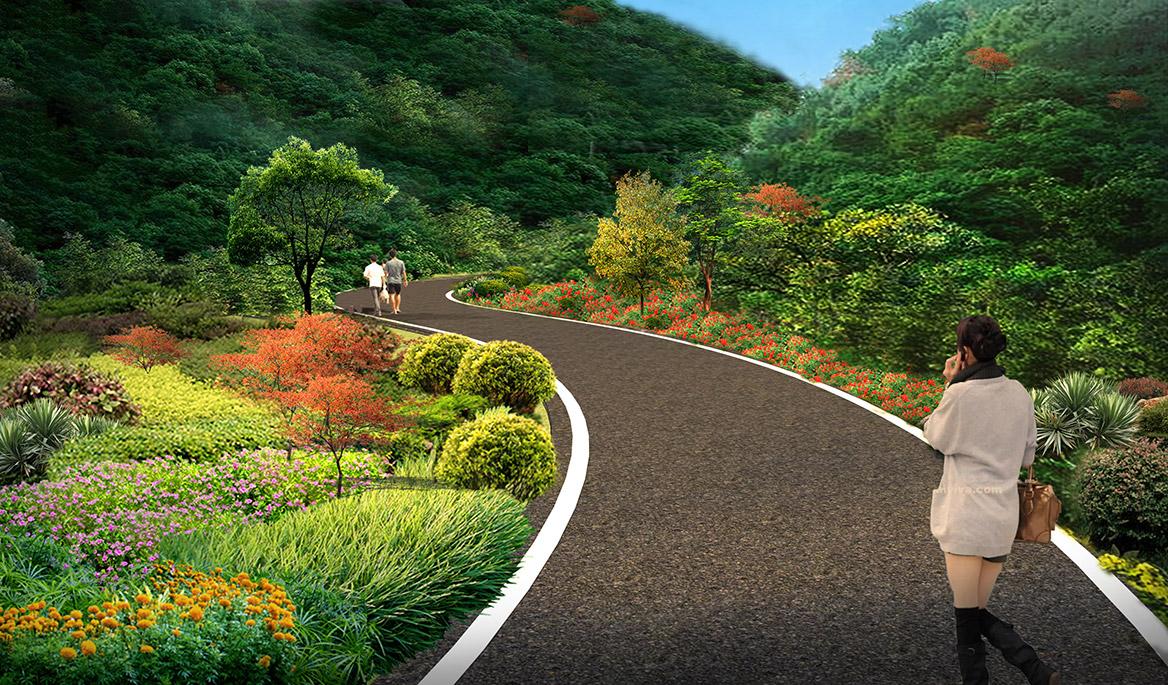 张家界悬崖花开养生谷总体规划设计效果图6