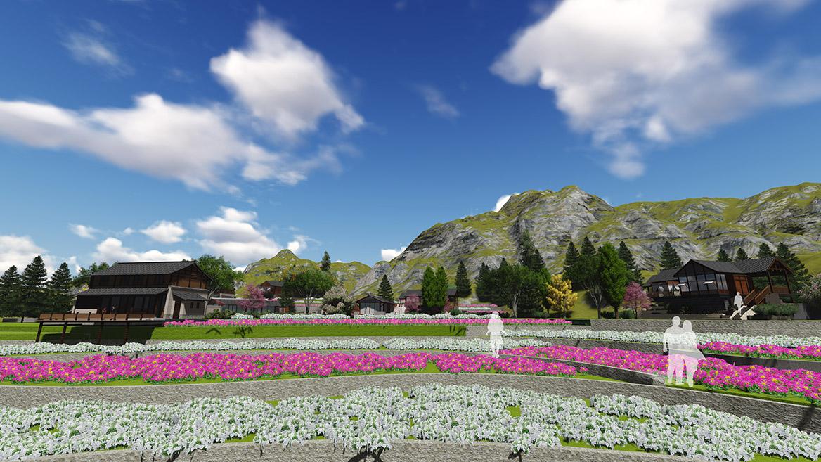 张家界悬崖花开养生谷总体规划设计效果图7