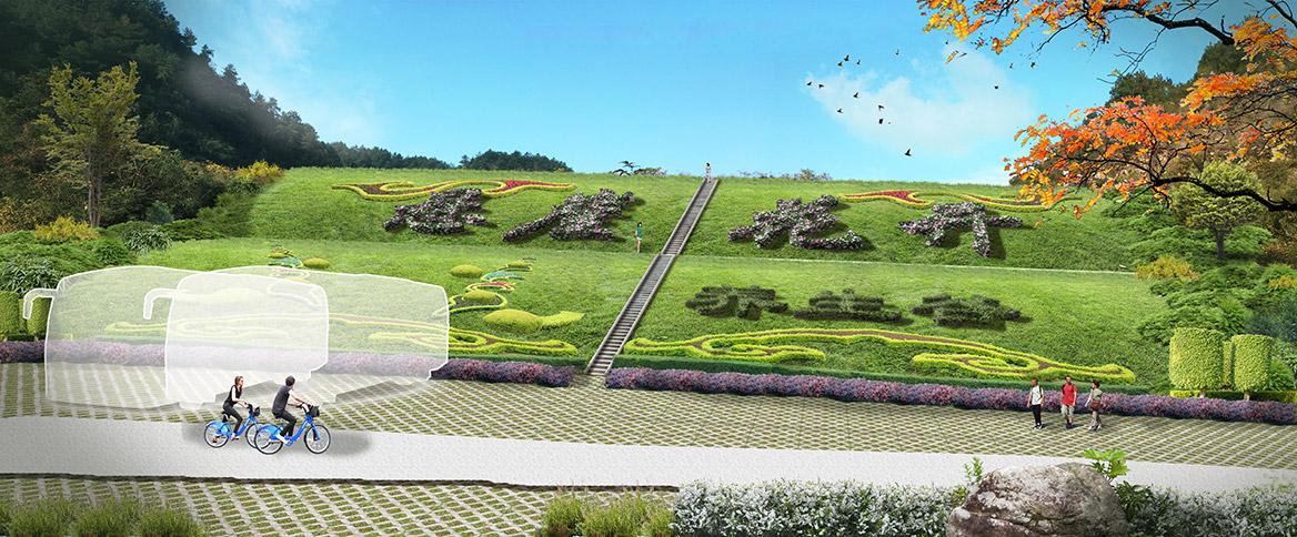 张家界悬崖花开养生谷总体规划设计改造后入口