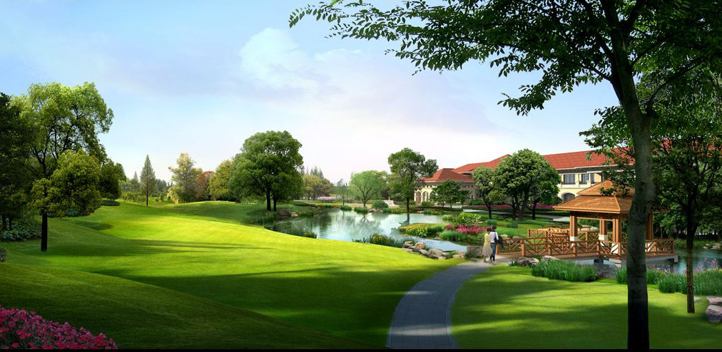 小区景观绿化设计图片