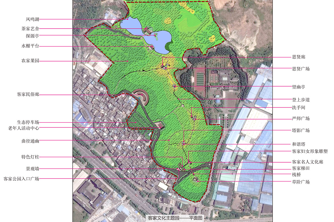 大岭山镇连平村美丽幸福村居建设行动计划总平面图