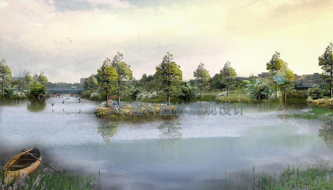 洪梅镇梅沙村湿地公园景观设计