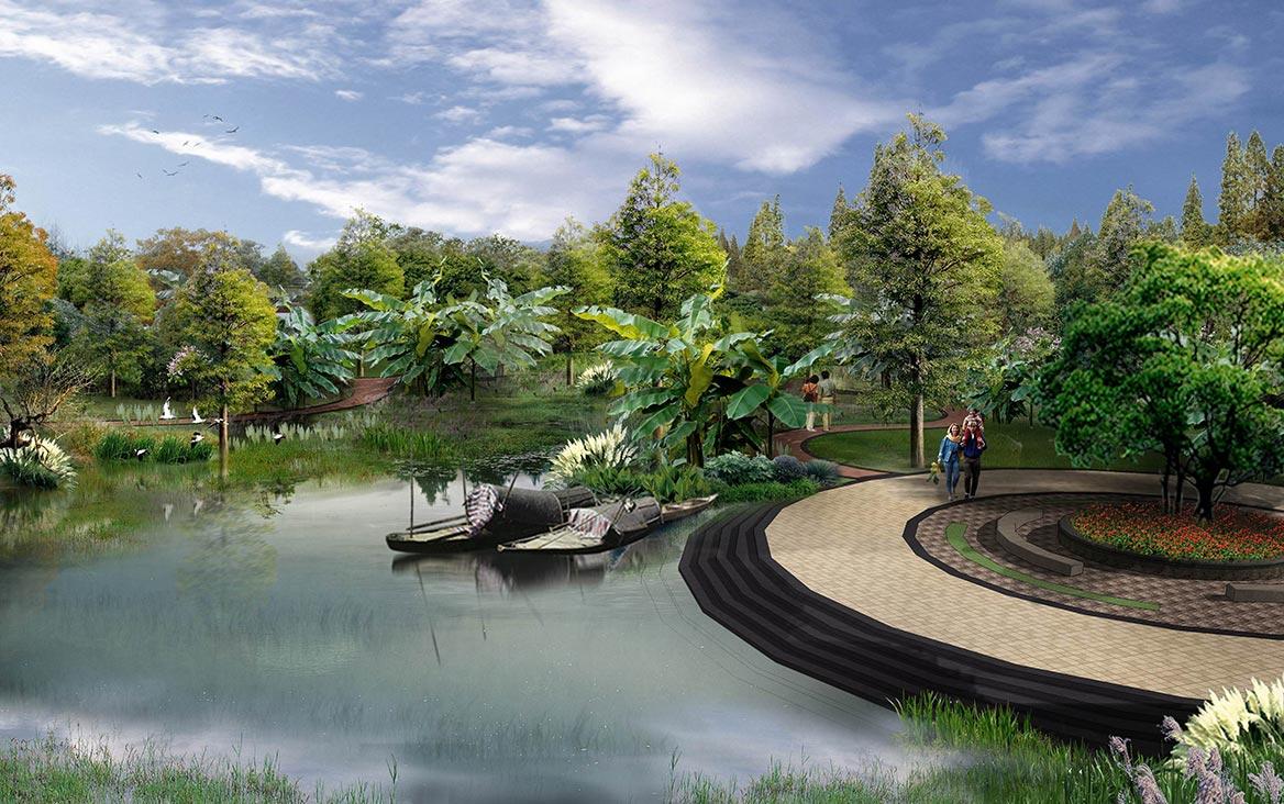 洪梅镇梅沙村湿地公园整体规划设计图3