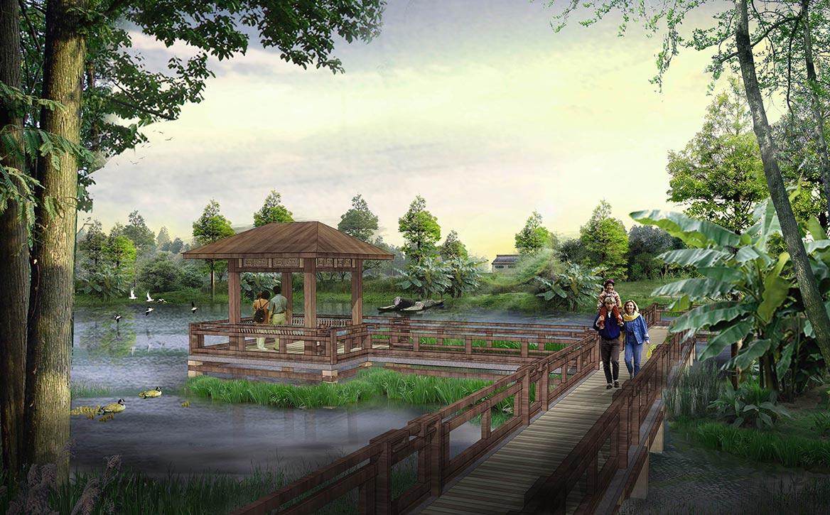 洪梅镇梅沙村湿地公园整体规划设计图4