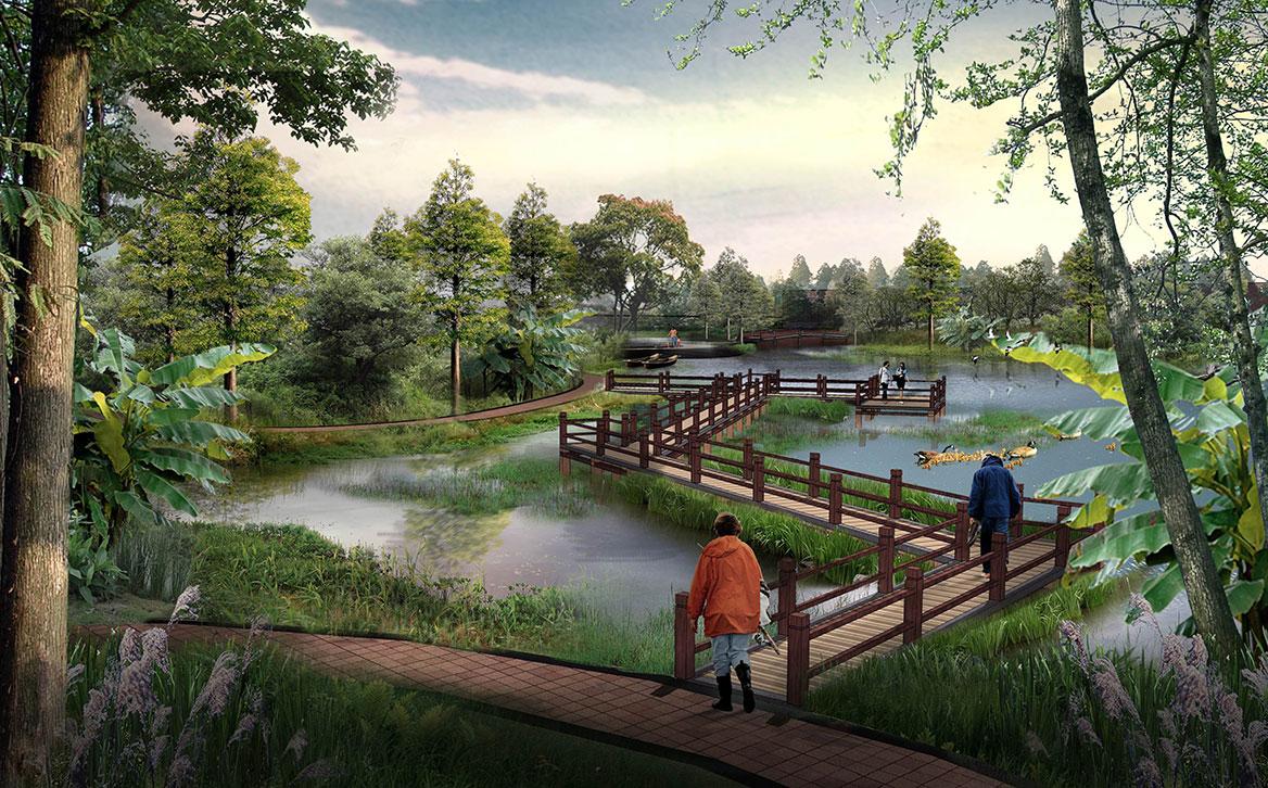 洪梅镇梅沙村湿地公园整体规划设计图6