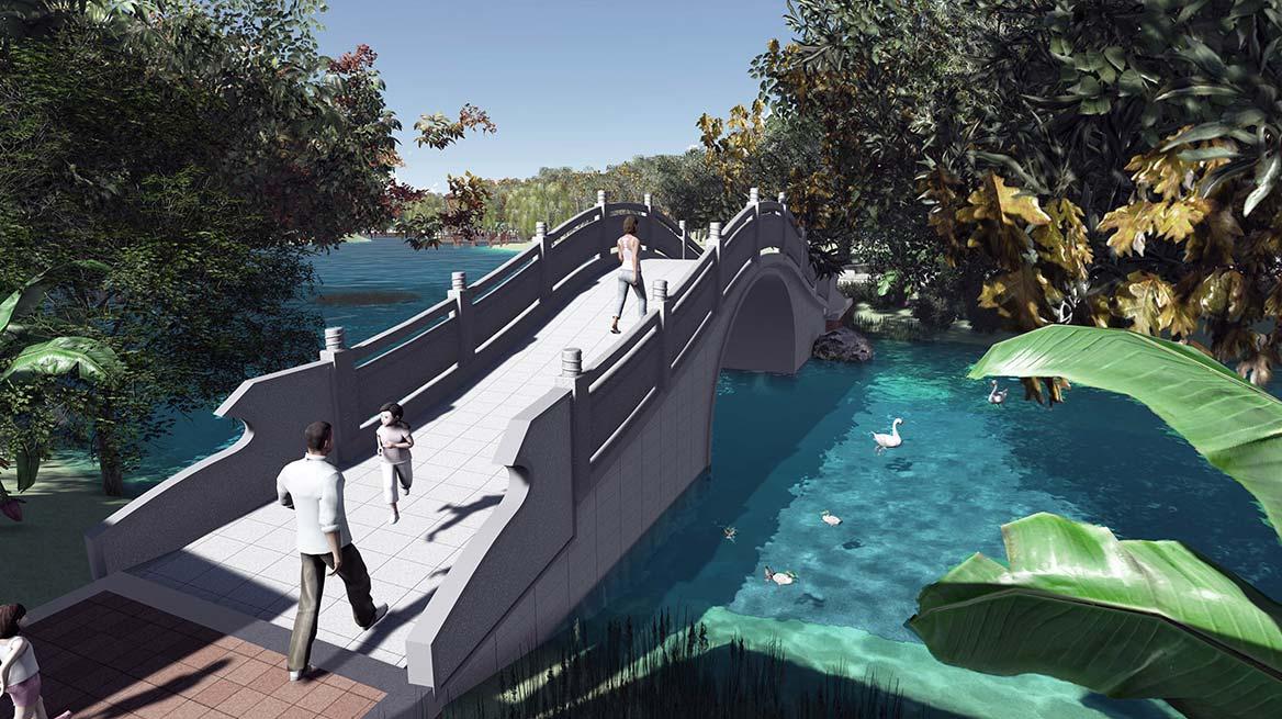 洪梅镇梅沙村湿地公园整体规划设计图8