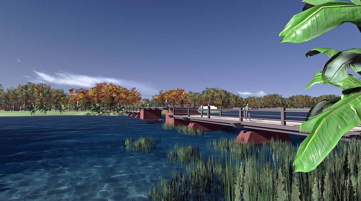 洪梅镇梅沙村湿地公园整体规划设计9