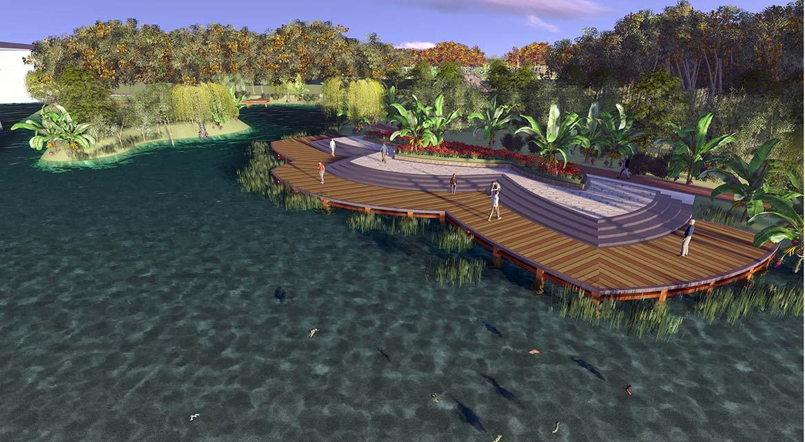 洪梅镇梅沙村湿地公园整体规划设计10