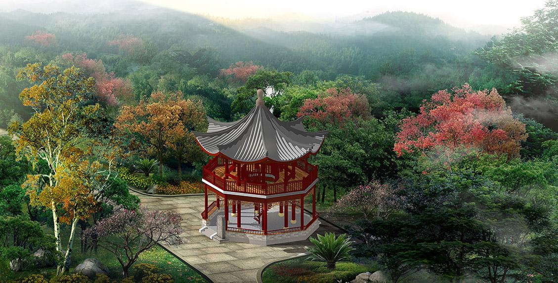 园林景观中亭的艺术功能图片