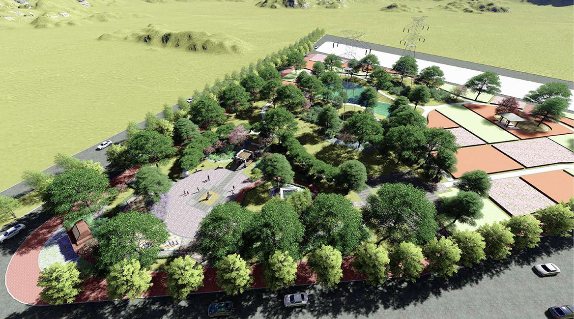 横沥镇田饶步村美丽幸福村居规划方案设计图1