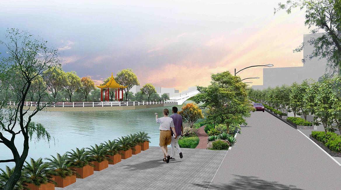 洪梅镇洪屋涡村美丽幸福村居建设行动计划项目效果图1