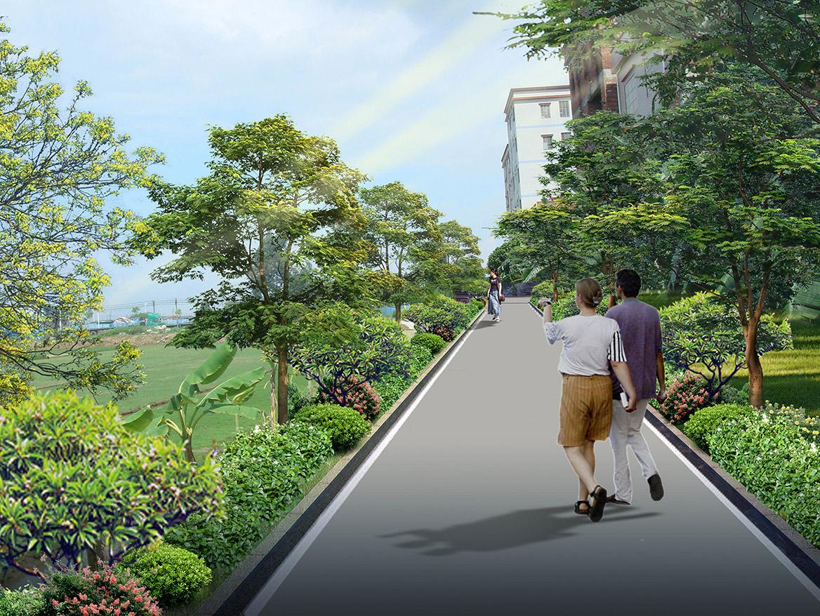洪梅镇洪屋涡村美丽幸福村居建设行动计划项目效果图7