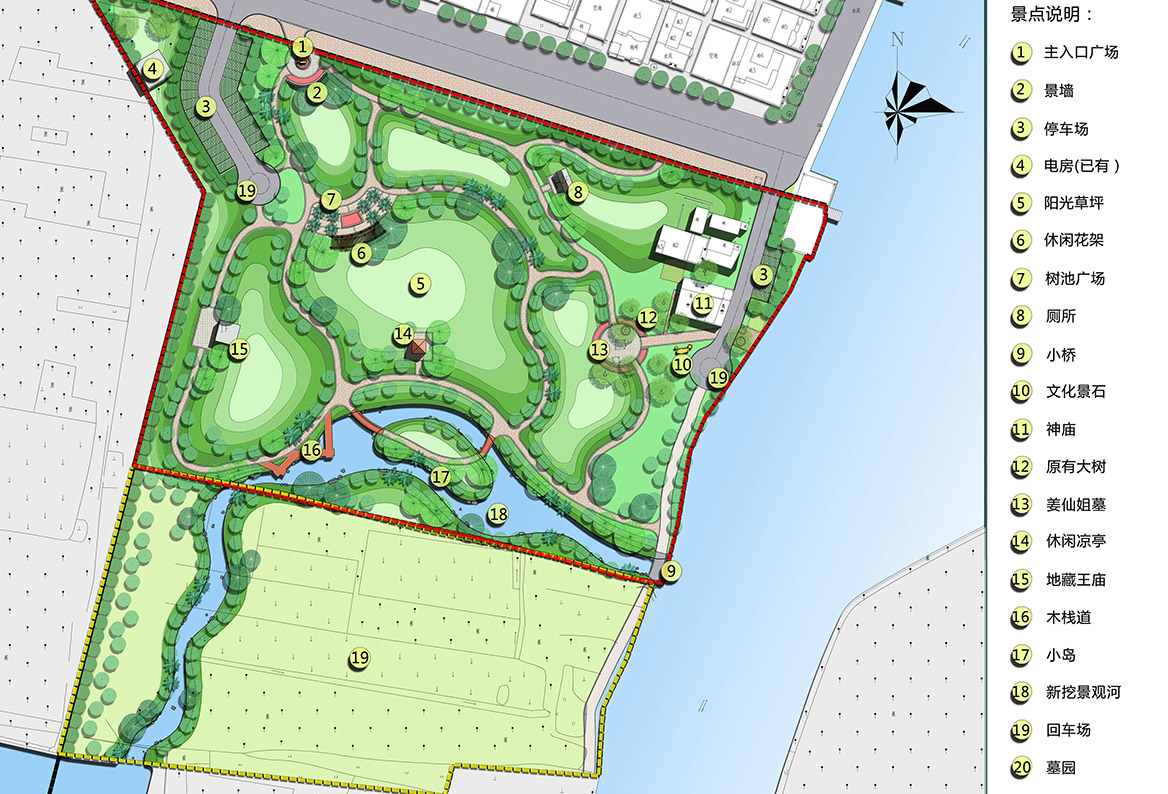 洪梅镇乌沙村美丽幸福村居规划设计方案总平面图