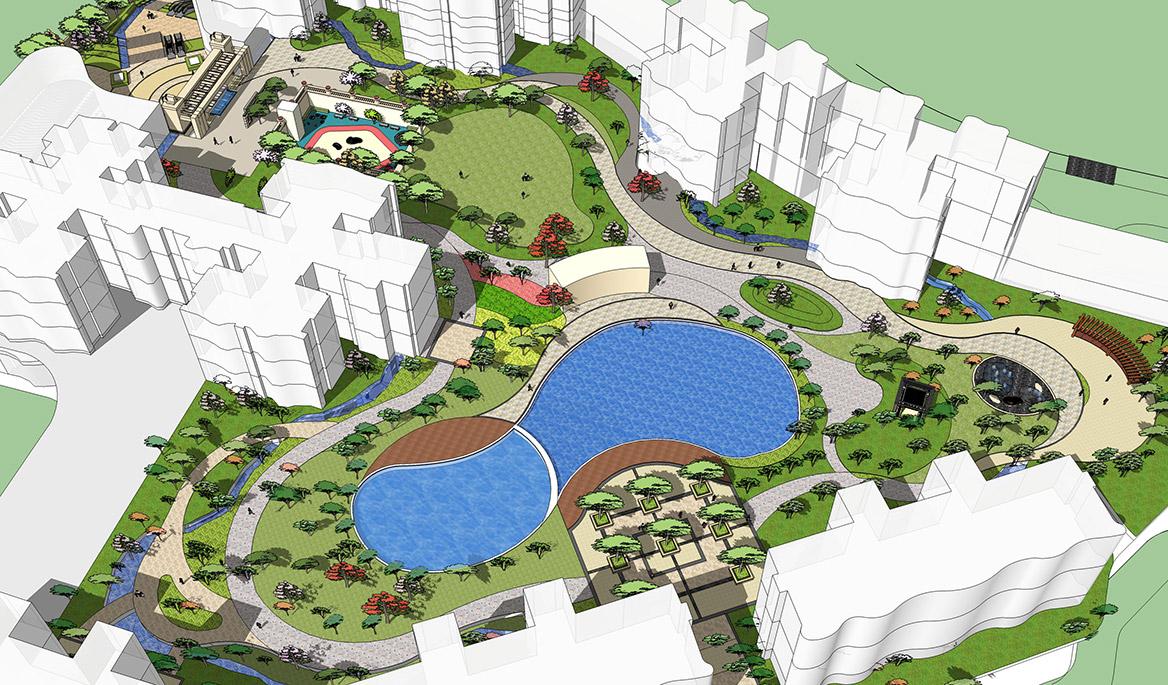 广州荔湖高尔夫苑景观概念方案设计图1