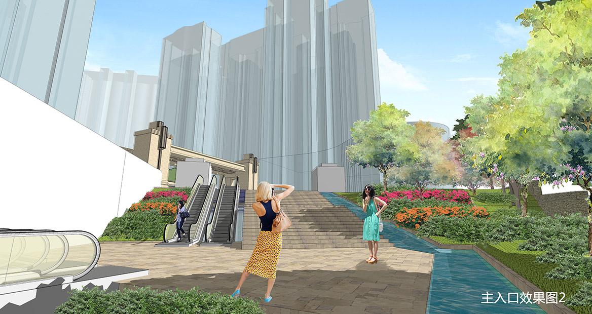 广州荔湖高尔夫苑景观概念方案设计图3