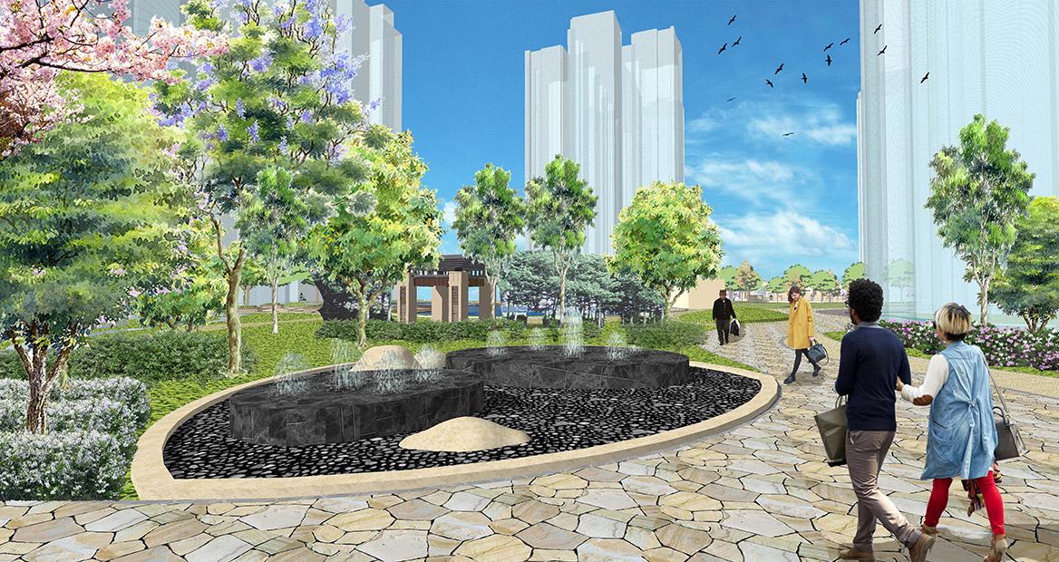 广州荔湖高尔夫苑景观概念方案设计图5