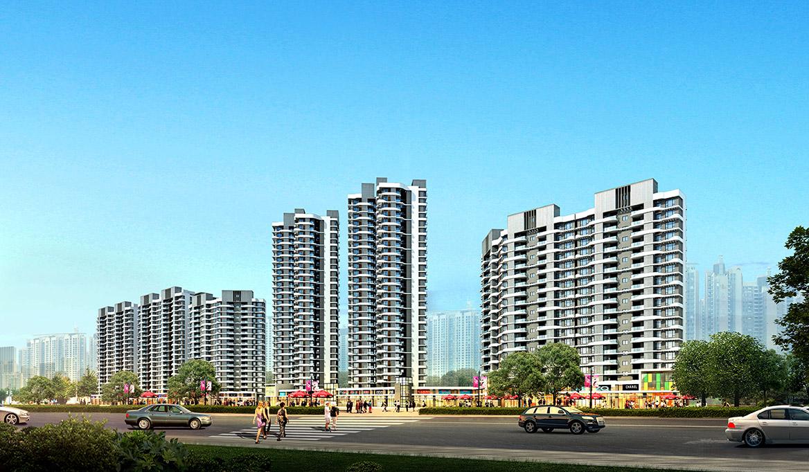 茂名锦绣金海岸概念性规划方案沿街透视图1