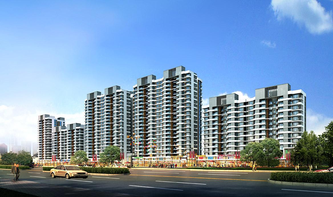 茂名锦绣金海岸概念性规划方案沿街透视图2
