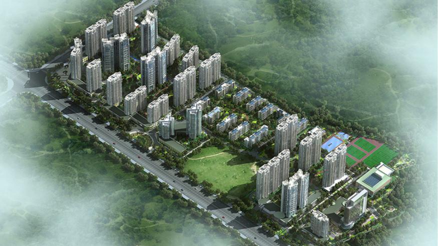柳工颐华城景观设计方案鸟瞰图