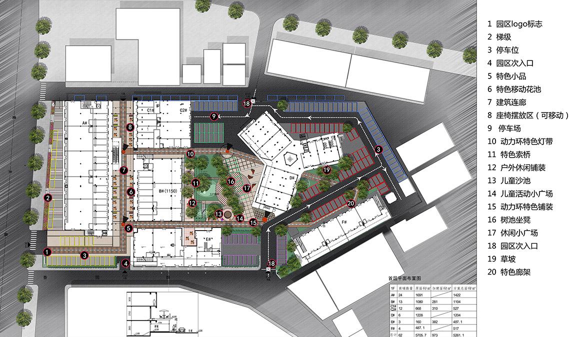 榕树下体验广场景观设计方案总平面图