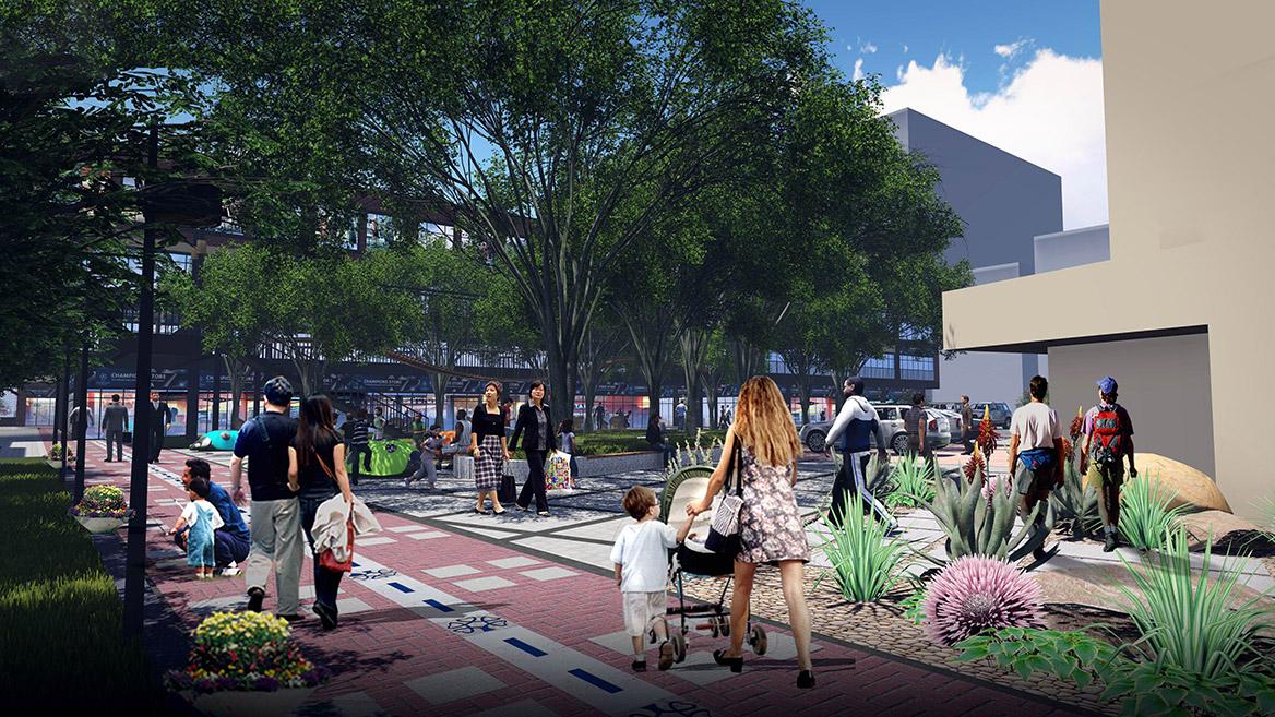 榕树下体验广场景观设计方案节点效果图四