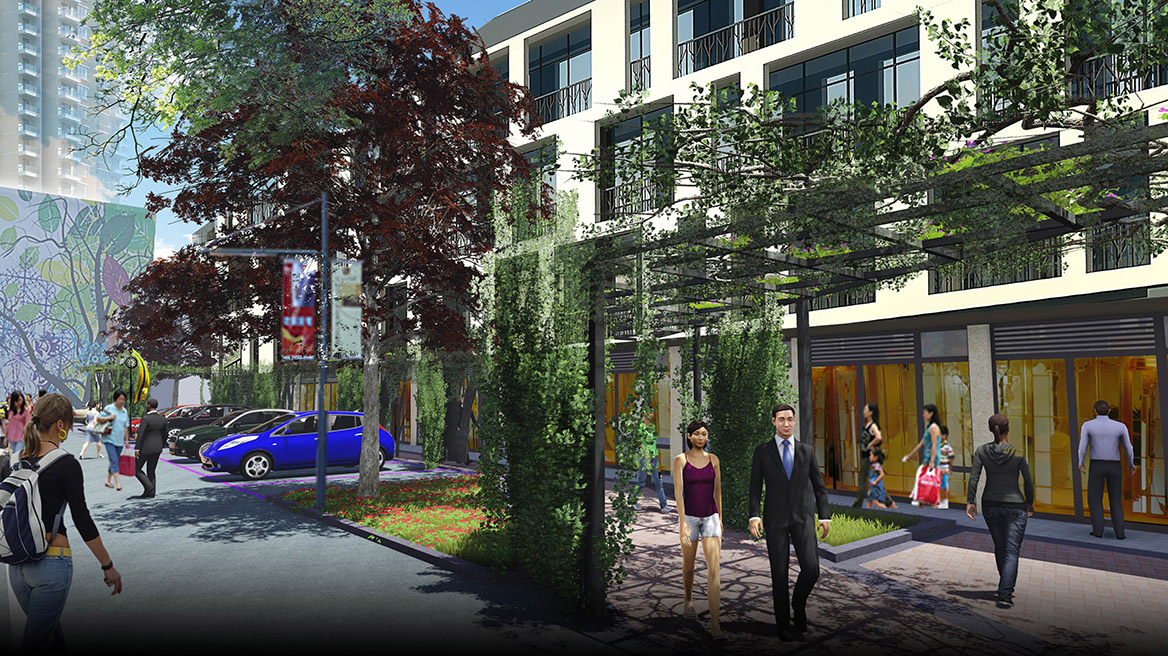 榕树下体验广场景观设计方案节点效果图五