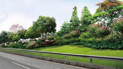 城市道路绿化是道路景观控制的重中之重