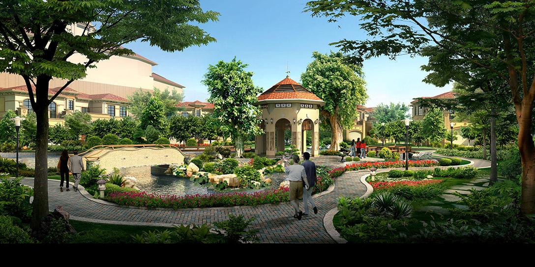 生态住宅区景观图片