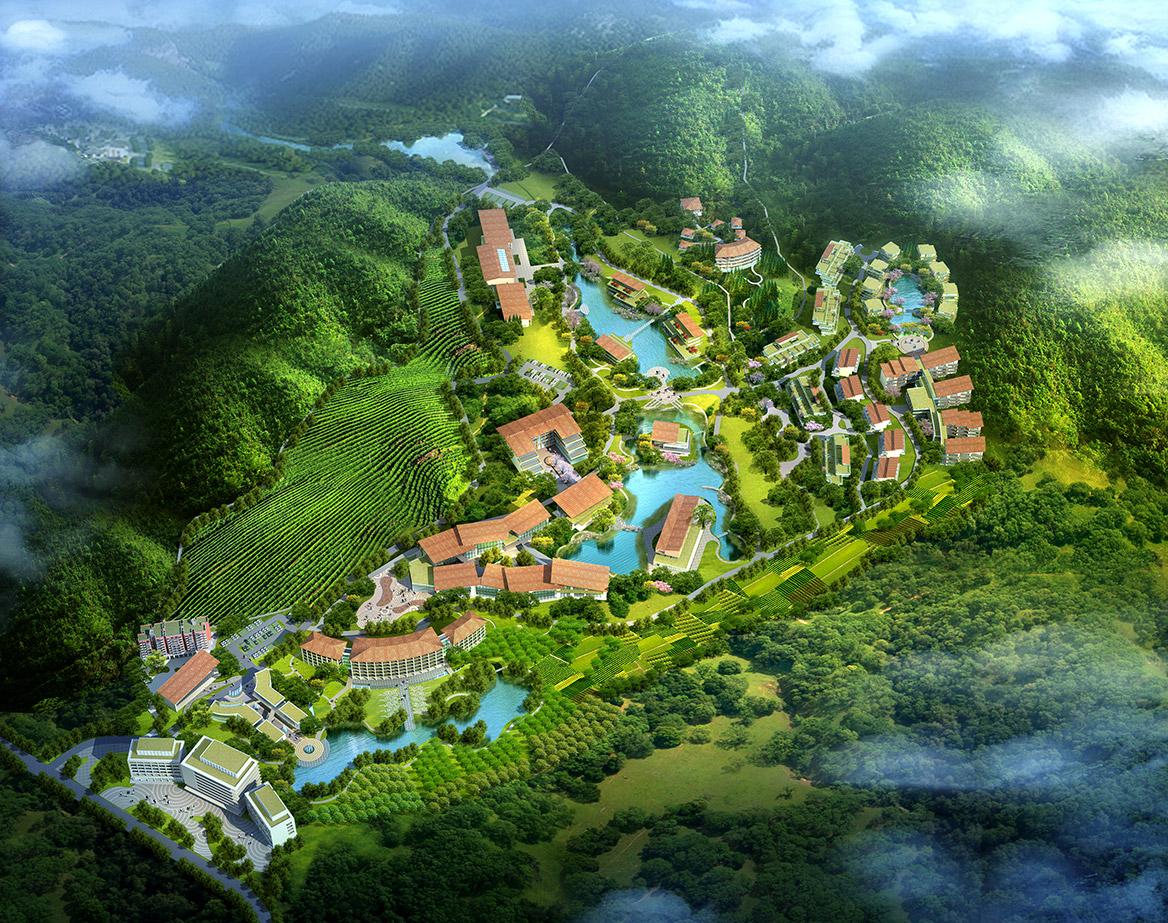 碧森养老养生度假村项目规划设计鸟瞰图
