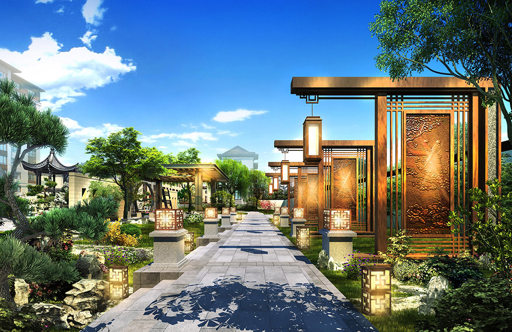 新中式景观设计图片