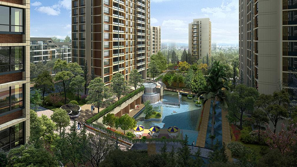 居住区景观设计图片