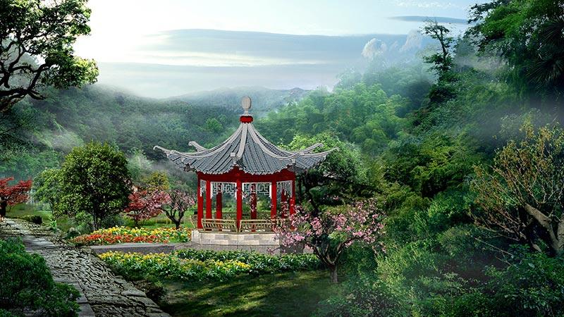 建科为大家简析现代中式风格园林设计